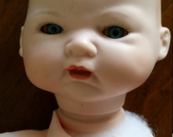 Reduced Porcelain Baby Doll Cloth Body Ready to Finish Bye Lo Repro