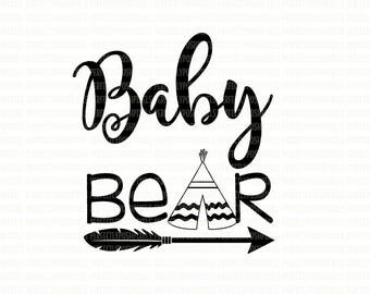Baby Bear SVG Files, Printable Clipart, Cut File, Baby Bear  Tshirt, SVG files for Cricut, digital Scrapbooking, SVG Files for Silhouette