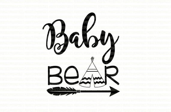 Baby Bear Svg Files Printable Clipart Cut File Baby Bear