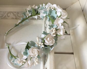 Floral flowers Crown summer spring wedding romantic wedding bridal flowers Crown