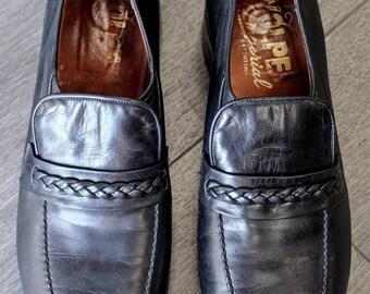 Vintage Volpe Imperial Mens Black Loafers