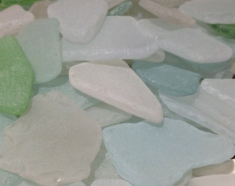 White Blue Sea Glass Frost Sea Glass Bulk Sea Glass Pieces 70 Pieces Sea  Glass Genuine