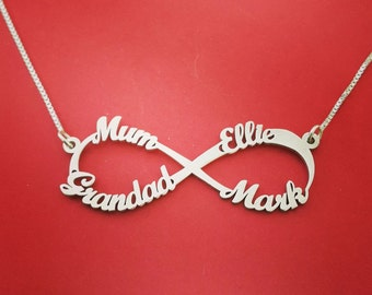Infinity necklace with names infinity name necklace mother daughter infinity necklace with infinity symbol mother infinity necklace