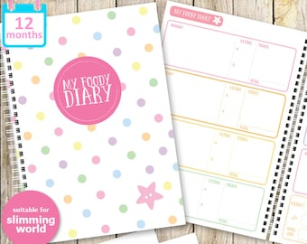 My Foody Diary: Slimming World Food Diary (12 months)