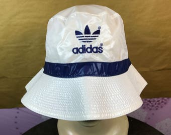 80s Vintage Adidas Trefoil Suns Bucket Hat Made In Japan