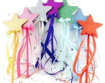 Magic wand, fairy wand, kids party, princess party favors, star wand, photo props, costume accessories, christmas gift, gift for her.