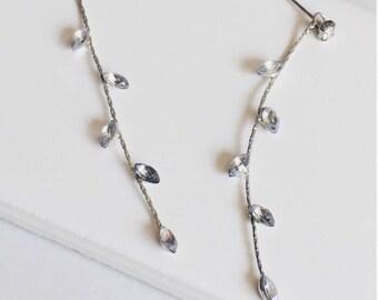 Crystal Drop Earring, Tassel Earring