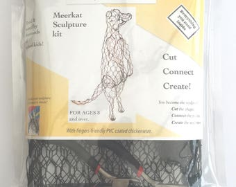 ChickenWired sculpture kit - Meerkat