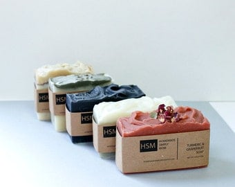 Fathers Day Soap Gift Set- Handcrafted Natural Soap Set- Mother's Day Gift -Father's Day -Gift for him- Gift for her-Soap Set gift