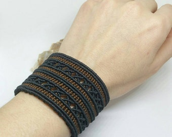 Makramee Armband, Makramee Schmuck, Festival Schmuck, Modeschmuck, benutzerdefinierte Armband, keltische Armband, unisex Armband, Viking Armband