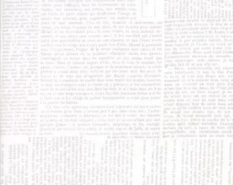 Compositions Newsprint White 30451 12 Moda  by BasicGrey