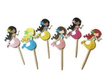 Mermaid Toppers, Mermaid Cupcakes, Mermaid Party, Mermaid Birthday, Mermaid Decorations, Mermaid Baby Shower, Mermaid 1st Birthday