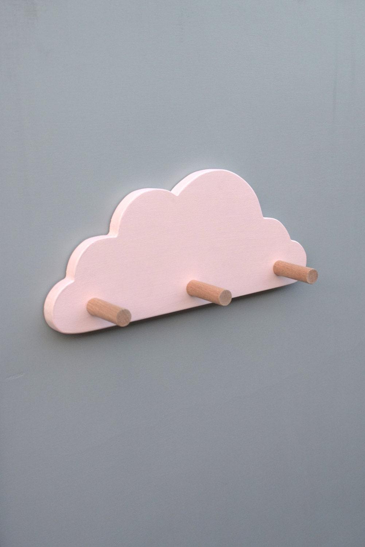 Wall hooks for kids pink cloud coat hook pink nursery decor zoom amipublicfo Choice Image