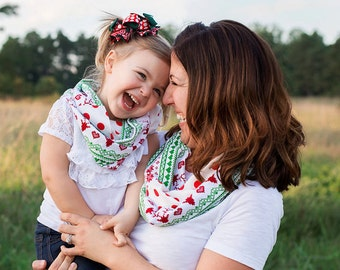 Mommy And Me Scarves - Infinity Scarf Set - Christmas Scarf - Mommy And Me Christmas Gifts - Womens Infinity Scarf - Kids Infinity Scarf