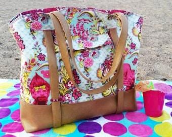 Swoon Patterns: Sophia Beach Tote - PDF Beach Bag Purse Sewing Pattern