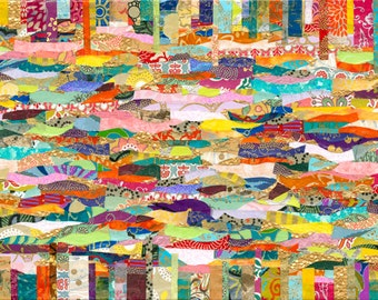 Mindfulness - Handmade Paper Collage on Canvas - Prints of Original Artwork