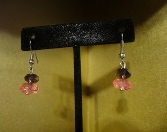 Glass and Crystal Earrings