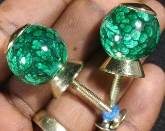 Malachite knob