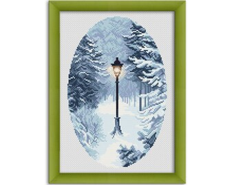 "PDF Cross Stitch Pattern ""Narnia""  Instant Download"