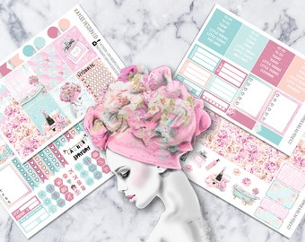 MINI Weekly Kit / Pamper And Relax / Planner Stickers /  Fits Erin Condren Vertical & MAMBI / Watercolor / Hand Drawn