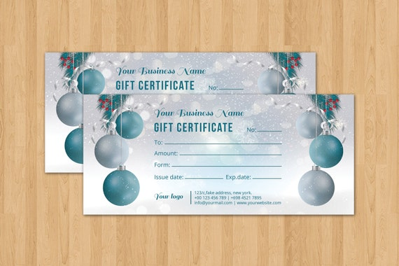 christmas holiday gift certificate template multipurpose. Black Bedroom Furniture Sets. Home Design Ideas