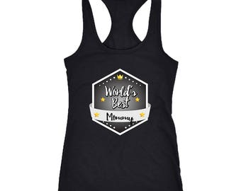 Mommy Racerback Tank Top T-Shirt. Funny Mommy Tank. Cool Shirt for Mommy