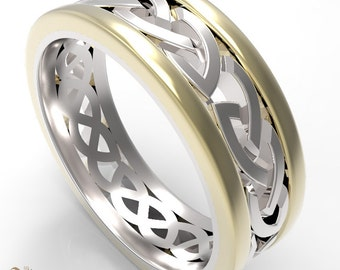 Silver & Gold Celtic Ring