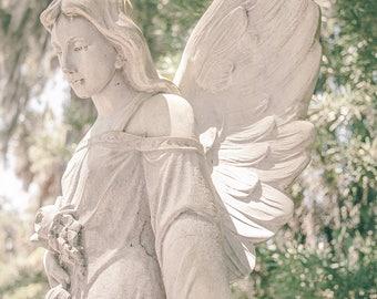 Bonaventure Cemetery, Bonaventure Angel, Savannah, GA, Georgia, Photography, Fine Art Print, Angel, Midnight In The Garden