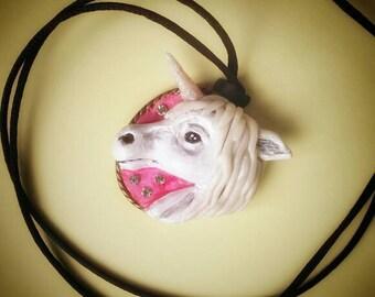 Cameo Unicorn / / unicorn cameo pendant
