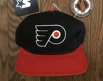 Vintage 90s Starter Limited Edition Deadstock Philadelphia Flyers NHL Snapback Hat Baseball Cap