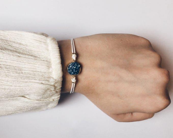 Featured listing image: Blue Crystal bracelet