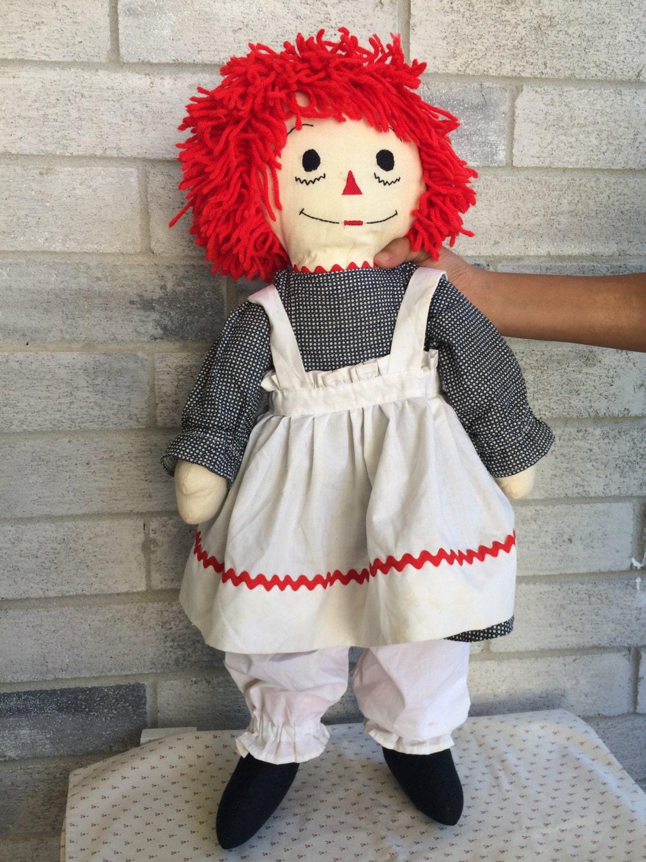 Vintage Handmade 24 Inch Raggedy Ann Doll Raggedy Ann Doll