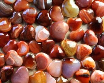 Agate Hearts 3pcs