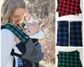 Lillebaby suckpads, plaid suck pads, drool pads, baby wearing, ergo, tula accessories, lillebaby, suckpads, ergo 360, tula, baby carrier