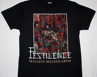 Pestilence Malleus Maleficarum 1988 Death Metal NEW Black T-Shirt