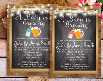 A Baby Is Brewing Couples Baby Shower Invitation Printable, A Baby Is  Brewing Invites,
