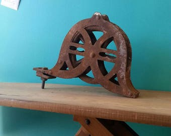 Rustic Iron Pulley