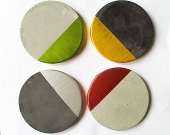 Concrete coasters - Coasters for men - Drink Coasters - Gift for dad - Gift for husband - Modern Coasters - Coasters for drinks - Mens gift