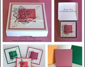 Craft Tutorial - Pizza Style Box & Note Cards
