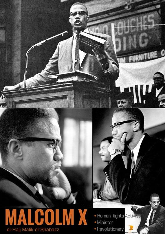 Malcolm X Poster Human Rights Activist Black History Photos