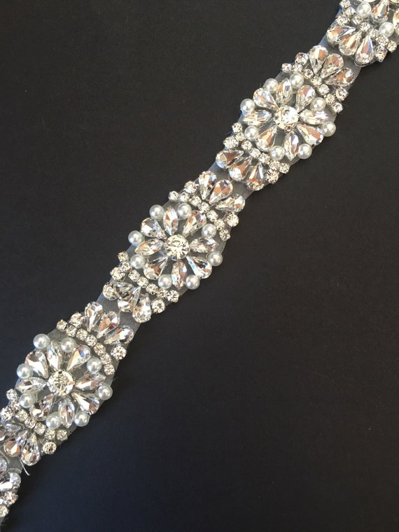 Crystal Rhinestone And Pearl Trim By The Yard Wholesale