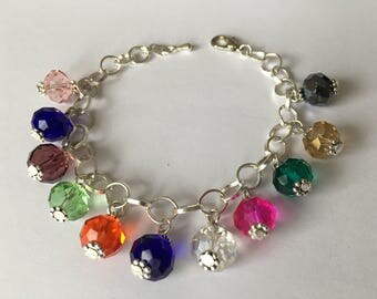 Multicolor beaded bracelet