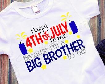 Big Brother shirt, 4th of July shirt, 4th of July shirt for boys, Boys shirt for 4th of July, Toddler shirt, 4th of July baby shirt