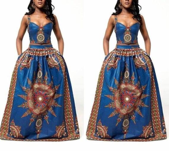 Starburst African print dress