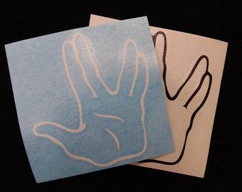 Live Long and Prosper vinyl decal