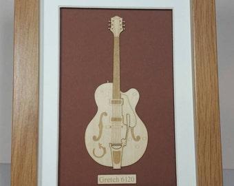Classic Gretch Guitar Laser cut gift
