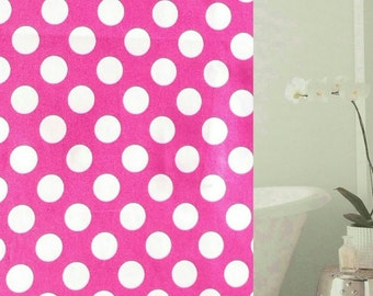 Shower Curtain: Variety Calico Print Red, Green, Yellow, Pink, Black,