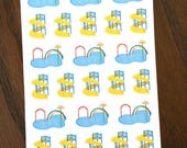 Water Park Planner Stickers - Kid Stickers - Water Slide Stickers - Pool Time Stickers - Pool Stickers - Splash Pad Stickers - Mom Stickers