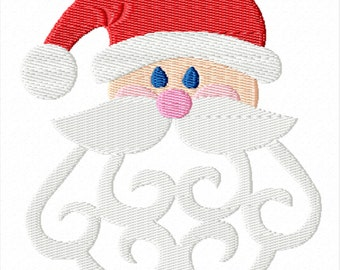 Scroll Work Santa -A Machine Embroidery Design for Christmas