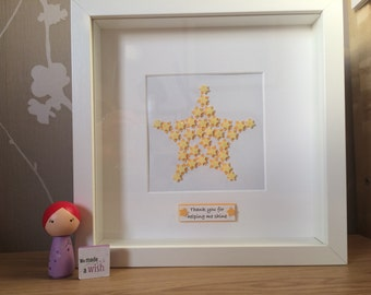 Foster carer / adoption gift. Star framed picture